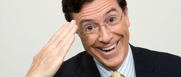 laughing colbert