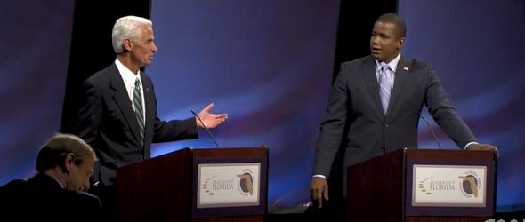 Meek, Crist Debate Obama Agenda (VIDEO)