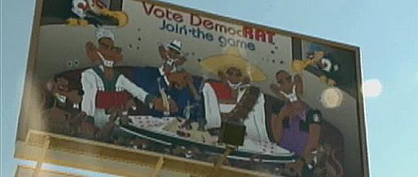 Billboard Shows Obama as Mobster (VIDEO)