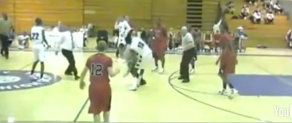 High School Basketball Player Attacks Ref (VIDEO)