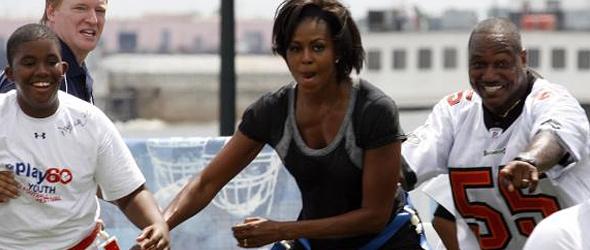 Michelle Obama Marks Let's Move! Anniversary