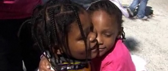 Girl, 9, Nearly Dies Saving Sister From Oncoming Truck (VIDEO)