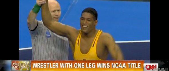 One-Legged Wrestler Wins NCAA Title (VIDEO)