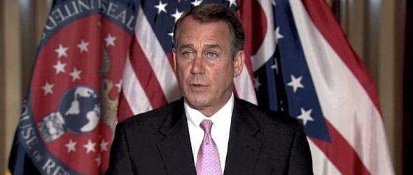Speaker Boehner To Present GOP's Alternative Strategy For Job Creation Today