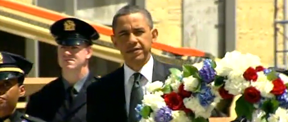 President Obama Lays Wreath At Ground Zero (VIDEO)