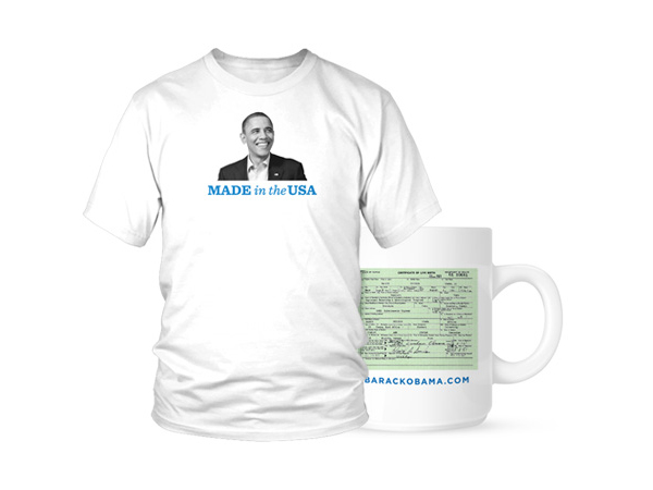 Obama Campaign Mocks Birthers With Birth Certificate T-Shirts And Mugs
