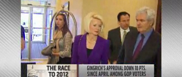 Newt Gingrich Defends His Wife (VIDEO)