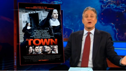 "Daily Show: Republicans Watch ""The Town"" (VIDEO)"