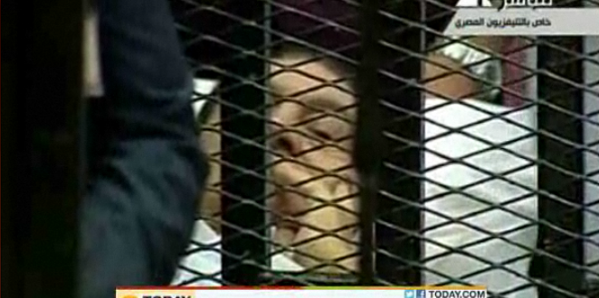 Bedridden, Caged, Mubarak Rejects Charges As Trial Starts (VIDEO)