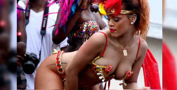 Rihanna Rocks Barbados In Jaw-Dropping, Skimpy Outfit