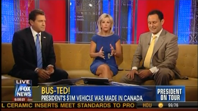 Fox And Friends Throw Hissy Fit Over President Obama's Canadian-Built Bus (VIDEO)