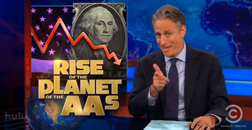 Jon Stewart Rips Standard & Poor's U.S. Credit Rating Downgrade: 'A Slap In The Face' (VIDEO)