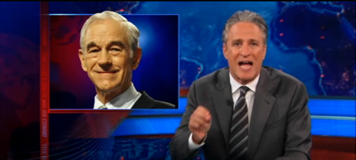Daily Show: Jon Stewart Accuses Media Of Ignoring Ron Paul (VIDEO)