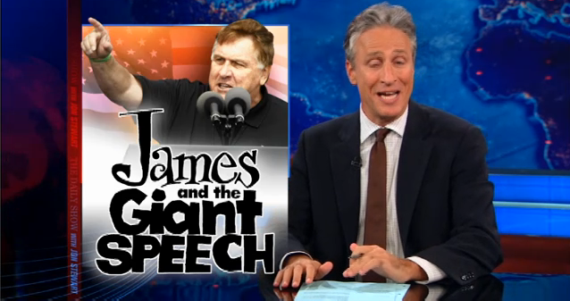 Jon Stewart: Jimmy Hoffa Jr.'s Big Speech Upsets The Tea Party (VIDEO)