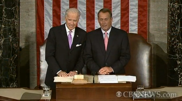 Boehner, Biden Caught On Open Mic Before POTUS Address, What Could They Be Talking About? (VIDEO)