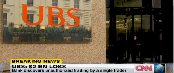 UBS Suffers $2 Billion Loss From Unauthorized Trading (VIDEO)